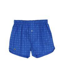 Lacoste - Blue Authentics Woven Boxer 2-pack Croc Boxer for Men - Lyst