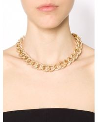 Michael Kors | Metallic Cable Chain Collar Necklace | Lyst