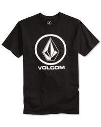 Volcom | Black Circle Stone Graphic-print Logo T-shirt for Men | Lyst