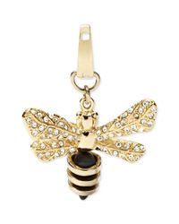 Fossil | Metallic Goldtone Crystal Pave Bee Charm | Lyst