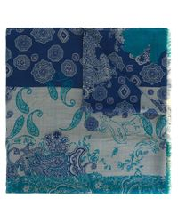 Etro | Blue Woven Scarf | Lyst