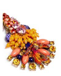 Anabela Chan | Orange 'Aphrodite' Swarovski Crystal Brass Drop Earrings | Lyst