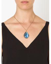 Irene Neuwirth   Metallic 18kt Rose Gold Labradorite Necklace   Lyst