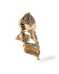 Bochic | Multicolor Rainbow Knight Nouveau Diamond Ring | Lyst