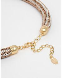 ALDO - Metallic Woisa Tube Choker Necklace - Lyst