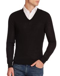 Ralph Lauren | Black Merino V-neck Sweater for Men | Lyst