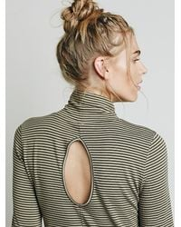 Free People - Brown We The Free Womens Cecilia Mock Neck Top - Lyst