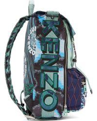 KENZO - Green Mint Signature Prints Urban Backpack - Lyst