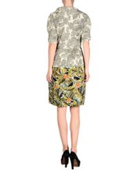 INTROPIA - Green Knee-length Dress - Lyst
