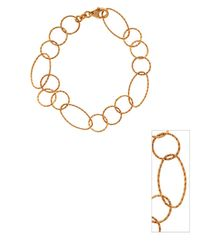 Lord & Taylor | Metallic 18kt Rose Gold Plated Sterling Silver Diamond Cut Link Bracelet | Lyst