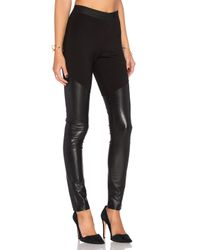 BCBGMAXAZRIA - Black Francisco Faux Leather Legging - Lyst