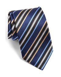 JZ Richards | Blue J.z Richards Stripe Silk Tie for Men | Lyst
