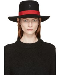 Marcelo Burlon - Black And Red Gaucho Hat - Lyst
