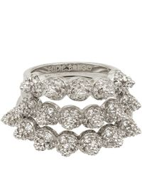 Eddie Borgo - Metallic Silverplated Pave Eternity Cone Ring Set - Lyst