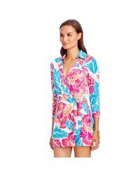 Diane von Furstenberg - Multicolor Celeste Silk Jersey Wrap Playsuit - Lyst