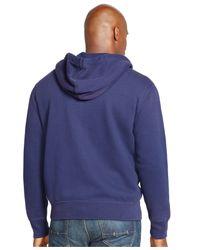 Polo Ralph Lauren   Blue Big And Tall Fleece Full-zip Hoodie for Men   Lyst