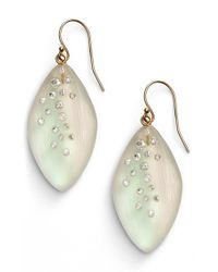 Alexis Bittar | Metallic 'lucite - Dust' Long Leaf Statement Earrings - Moonstone | Lyst
