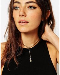 ASOS | Metallic Mini Travellers Choker Necklace | Lyst