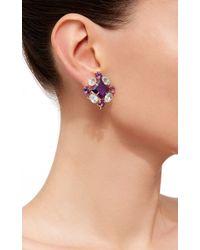 Bounkit | Purple Convertible Blue Quartz And Amethyst Earrings | Lyst