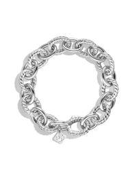 David Yurman - Metallic Large Oval Link Bracelet - Lyst