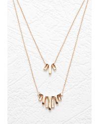 Forever 21 | Metallic Cutout Matchstick Necklace Set | Lyst