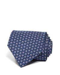 Ferragamo - Blue Gancini And Diamond Classic Tie for Men - Lyst