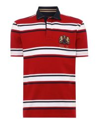 Howick | Red Hursley Stripe Short Sleeve Rugby for Men | Lyst