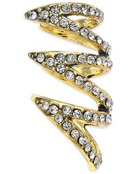 House of Harlow 1960 - Metallic Gold-tone Pavé Multi-row Ear Cuff - Lyst