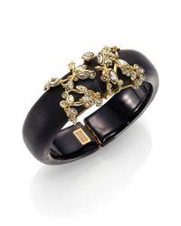 Alexis Bittar   Imperial Lucite & Crystal Lace Bracelet/Black   Lyst