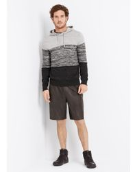 Vince - Gray Sporty Jaspé Colorblocked Pullover Hoodie for Men - Lyst
