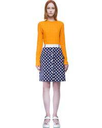 Carven - Orange Skirt - Lyst