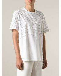 Neil Barrett - White Dotted T-Shirt for Men - Lyst
