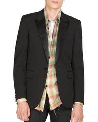 Saint Laurent - Black Satin Lapel Sportcoat for Men - Lyst