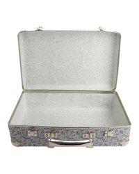 Liberty - Metallic Floral Eloise Print Mini Suitcase - Lyst