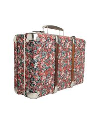 Liberty - Metallic Floral Wiltshire Print Mini Suitcase - Lyst