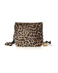 Lanvin - Multicolor Mini Pop Leopard-print Bag - Lyst
