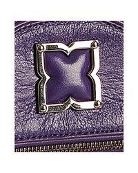 BCBGMAXAZRIA | Purple Violet Leather Femme Fatale Foldover Shoulder Bag | Lyst