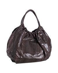 Beirn | Brown Espresso Snakeskin Ruthie Shoulder Bag | Lyst