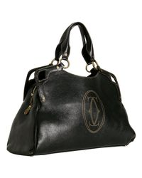 Cartier | Black Buffalo Marcello Large Tote | Lyst