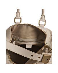 Céline | White Cream Pebble Leather Small Boston Bag | Lyst
