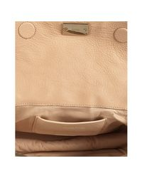 Chloé - Natural Pink Beige Stone Deerskin Mira Chain Shoulder Bag - Lyst
