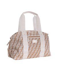 Fendi | Natural Beige Zucca Print Nylon Logo Duffle Bag | Lyst
