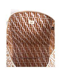 Fendi - Natural Beige Zucca Print Nylon Logo Duffle Bag - Lyst