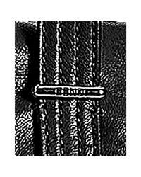 Fendi | Black Leather Zip Front Satchel | Lyst