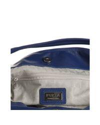 Furla | China Blue Pebble Leather Elisabeth Large Shoulder Bag | Lyst
