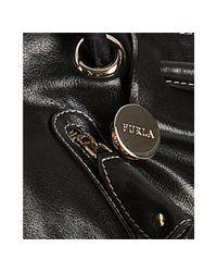 Furla   Black Onyx Leather Carmen Zip Detail Tote Bag   Lyst
