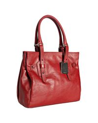 Furla | Red Geranium Leather Narciso Medium Shopper Tote | Lyst
