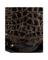 Givenchy - Black Croc Print Leather Mini Melancholia Shoulder Bag - Lyst