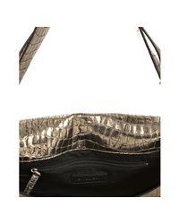 Givenchy - Metallic Gold Croc Embossed Sheepskin Melancholia Shoulder Bag - Lyst