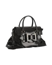 Gucci | Black Coated Twill Queen Medium Satchel | Lyst